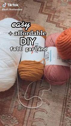 Diy Crafts For Home Decor, Fall Home Decor, Crafts To Do, Diy Autumn Crafts, Fall Halloween, Halloween Crafts, Holiday Crafts, Regalo Baby Shower, Diy Girlande