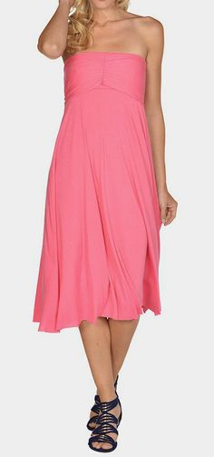 Hot Pink Six-in-One Convertible Dress
