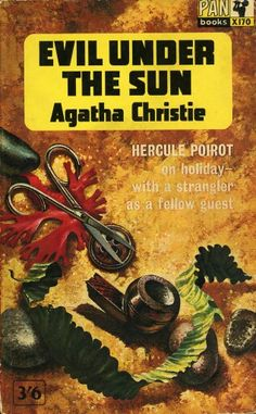 Evil Under The Sun by Agatha Christie. Pan. Classic British Golden Age crime novel cover.