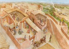 Vida cotidiana en las sociedades Iberas. El oppidum y su entorno. Ilustración Miguel Salvatierra. Past Women