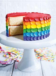Recette de gâteau arc-en-ciel de Ricardo Plus Cheesecakes, Rainbow Birthday, Rainbow Cakes, Colorful Cakes, Birthday Cupcakes, 40th Birthday, Cake Decorating Tips, Pound Cake, Cake Designs