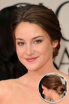 Shailene Woodley's wowed at the Golden Globes with her very grown-up bun.