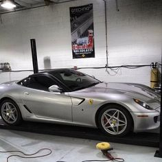 Ferrari 599 getting some work done, amazing car!