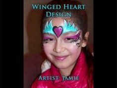 Valentine's Day Wing Heart Face Paint Tutorial