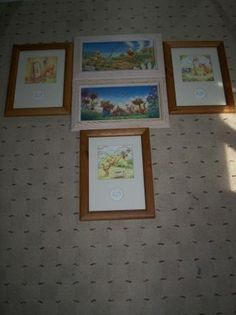 Set Of 5 Rare Numbered Winnie The Pooh Framed Art: I am selling Five of the rarest Winnie The Pooh Pictures.   Each one is framed in wood. They would make a Great addition for a babies room or for the Disney Collector.  All In EXCELLENT condition, Just waiting for a serious buyer.  I will add more photos once I get an offer on these...