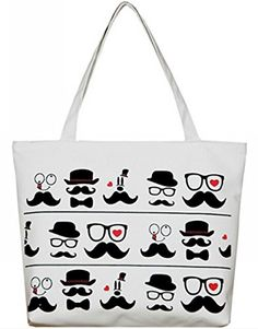 Uget Cartoon Printed Canvas Shoulder Bag Bearded     Find out more about  the great ec504c09dc64a