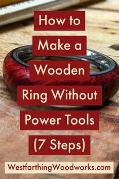 The non power guide to making wooden rings. This is how you can make a wooden ring without needing any power tools. It& a more traditional way of making rings, and a quite and natural form of woodworking. Woodworking Hand Tools, Beginner Woodworking Projects, Popular Woodworking, Woodworking Videos, Woodworking Crafts, Woodworking Shop, Woodworking Plans, Woodworking Furniture, Woodworking Supplies