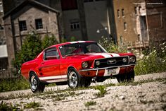 The Oldie But Goodie - musclecarblog:   Red 67 Mustang by AmericanMuscle