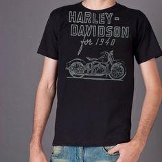 Camiseta Harley-Davidson Preta - Machine Cult - Kustom Shop   A loja das camisetas de carro e moto