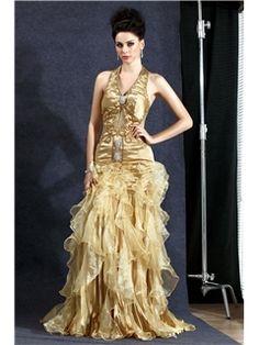 86badd9c393 Chic Mermaid Halter Floor-length Polina s Evening Dress Schwarze  Partykleider