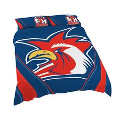 Australia's largest range of Sydney Roosters Licensed NRL Quilt Duvet Doona Bedding Cover Sets. Rugby League, Quilt Cover Sets, Queen Quilt, Bed Covers, Sydney, Rooster, Quilts, The Originals, Queen Size Quilt