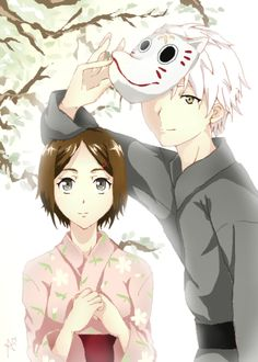 Takegawa Hotaru e Gin. - Hotarubi no mori.  Una palabra o accion dice mas que mil palabras