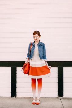Outfit: Ombre - A Clothes Horse Orange Tights, Clothes Horse, Personal Style, Photography, Outfits, Vintage, Fashion, Moda, Photograph