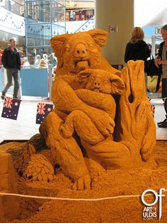 Koala,sand sculpture DK09-7 Uldis Zarins by Uldis Zariņš, via Flickr
