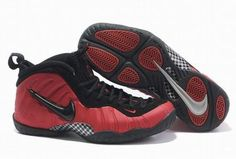 air foamposites pro red black men basketball shoes 27286