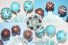 cake pops,This is a great idea for the guest tables, but I would do chocolate and some kind of pretty green color, and I would still have a wedding cake