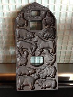Barnyard Mold John Wright Cast Iron Double Sided by missenpieces, $22.00