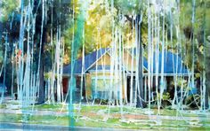 Christopher St. Leger #watercolour #painting #suburbia