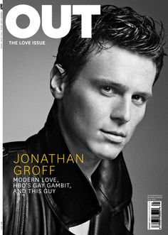 """Jonathan Groff, one of the stars of HBO's """"Looking,"""" photographed by Nino Muñoz for the February 2014 issue of Out."""