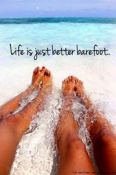 117 of the BEST Beach Quotes (& Beach Photos) for Your Inspiration! I always want to be barefoot too too is too the Beach Humor, I Love The Beach, Pretty Beach, Beach Pictures, Beach Pics, Beach Stuff, Beach Fun, Travel Quotes, Beautiful Beaches
