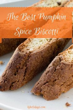 Baking The Best Pumpkin Spice Biscotti is perfect for a large meal because you can bake a lot of biscotti quickly, they are very easy to make, and they do not need to be refrigerated or frozen. Biscotti last for about six weeks at room temperature assumi Pumpkin Recipes, Fall Recipes, Holiday Recipes, Cookie Recipes, Dessert Recipes, Dessert Ideas, Pumpkin Biscotti, Biscotti Cookies, Biscotti Recipe