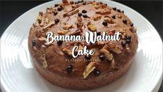 Banana Walnut Cake | Eggless Cake |Tea Time| Lockdown Recipe | The VAST Kitchen | BY SAKSHI SACHDEVA - YouTube Banana Walnut Cake, Brownie Cake, Brownies, Sweet Buns, No Cook Desserts, Tea Time, Cake Decorating, Bakery, Sweet Treats