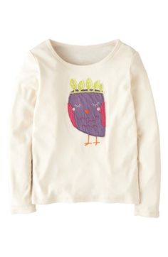 Mini Boden 'Animal' Appliqué Tee (Toddler Girls) available at #Nordstrom