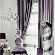 Purple and Silver Bathroom Ideas | the silver and purple room-15 Modern Living Room Curtain Designs.