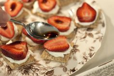 balsamic strawberries on triscuit!