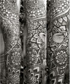 This #Mandala #sleeve #tattoo is absolutely gorgeous.