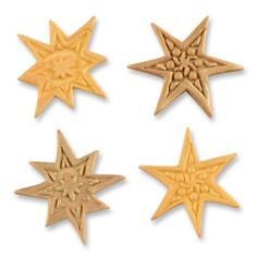Tragacanth sugar stars, golden and yellow, assorted
