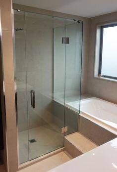 Stepped Frameless Shower Frameless Shower, Screens, Showers, Bathtub, Bathroom, Modern, Design, Shower Heads, Standing Bath