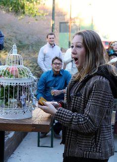 Birdcage love lock bouquet toss alternative as seen on @offbeatbride