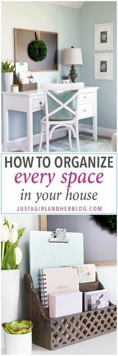 Love the notebook & folders organized that way! #organizedhouse
