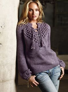 #Candice Swanepoel -- VS   This VS sweater gets RAVE reviews!!!!   #MyVSFallEdit