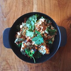 Shona Vertue's roasted sweet potato with creamy garlic tahini dressing recipe