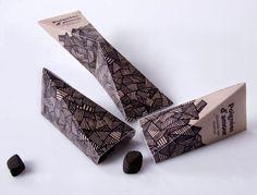 Poignées d'amour c'est un concept de José Lamarche dans mon cours d'emballages qui nous propose de jolies boîtes évocatrices de tailles sveltes et élégantes pour un chocolat de qualité que l'on prend plaisir à partager.