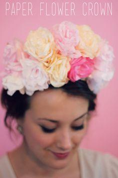 Gold + Arrow: DIY Paper Flower Crown