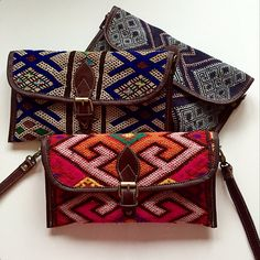 Lovely kelim prints... Indy clutch by Marrakech musthaves