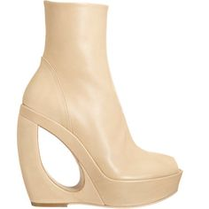 Ann Demeulemeester Cutout Wedge Ankle Boot