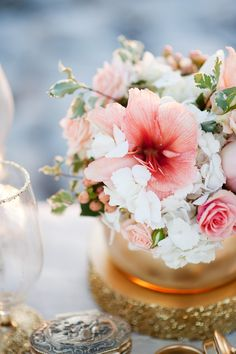 Pink and white. Calie Rose. Photography: Kristina Curtis Photography - www.kristinacurtisphotography.com  Read More: http://www.stylemepretty.com/utah-weddings/2014/01/07/gold-peach-mother-daughter-bridal-inspiration/