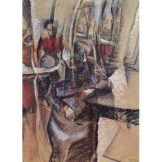 Interior with 2 female figures 1915 Canvas Art - Umberto Boccioni (18 x 24)