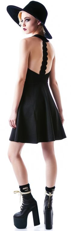 MinkPink The #Black #Dress  I'm obsessed with those shoes! I want the Hellbounds soo bad!