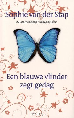 Een blauwe vlinder zegt gedag