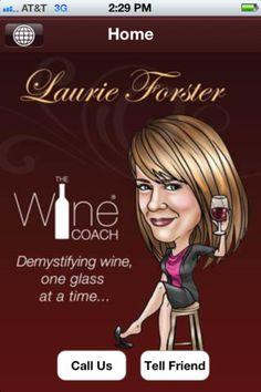 wijn app The Wine Coach, van bekroond sommelier/auteur/tv-persoonlijkheid Laurie Foster