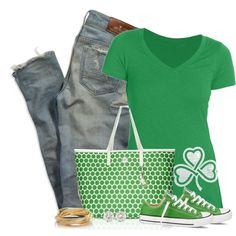 St. Patrick's Day by cindycook10 on Polyvore featuring American Eagle Outfitters, Converse, MICHAEL Michael Kors and The Limited