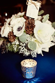Perfect centerpiece for the Winter Wedding, including all the textures......Perfect!!!!!
