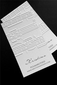 Visiitkaart nootidega - визитка музыкальная business card with musical pattern