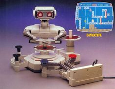 The original Nintendo came with a robot. I had one of these. I wonder if it's still in my mom's attic.