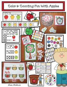 Apple activities: A ton of fun apple games, centers & activities that practice a variety of standards. Activity Board, Activity Centers, Apple Fruit, Red Apple, Apple Activities, Apple Games, Apples To Apples Game, Apple Theme, Fall Preschool